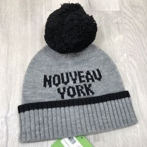 d46f0c50e kate spade Accessories | Cool Cat Beanie With Pom Crystal Nwt | Poshmark